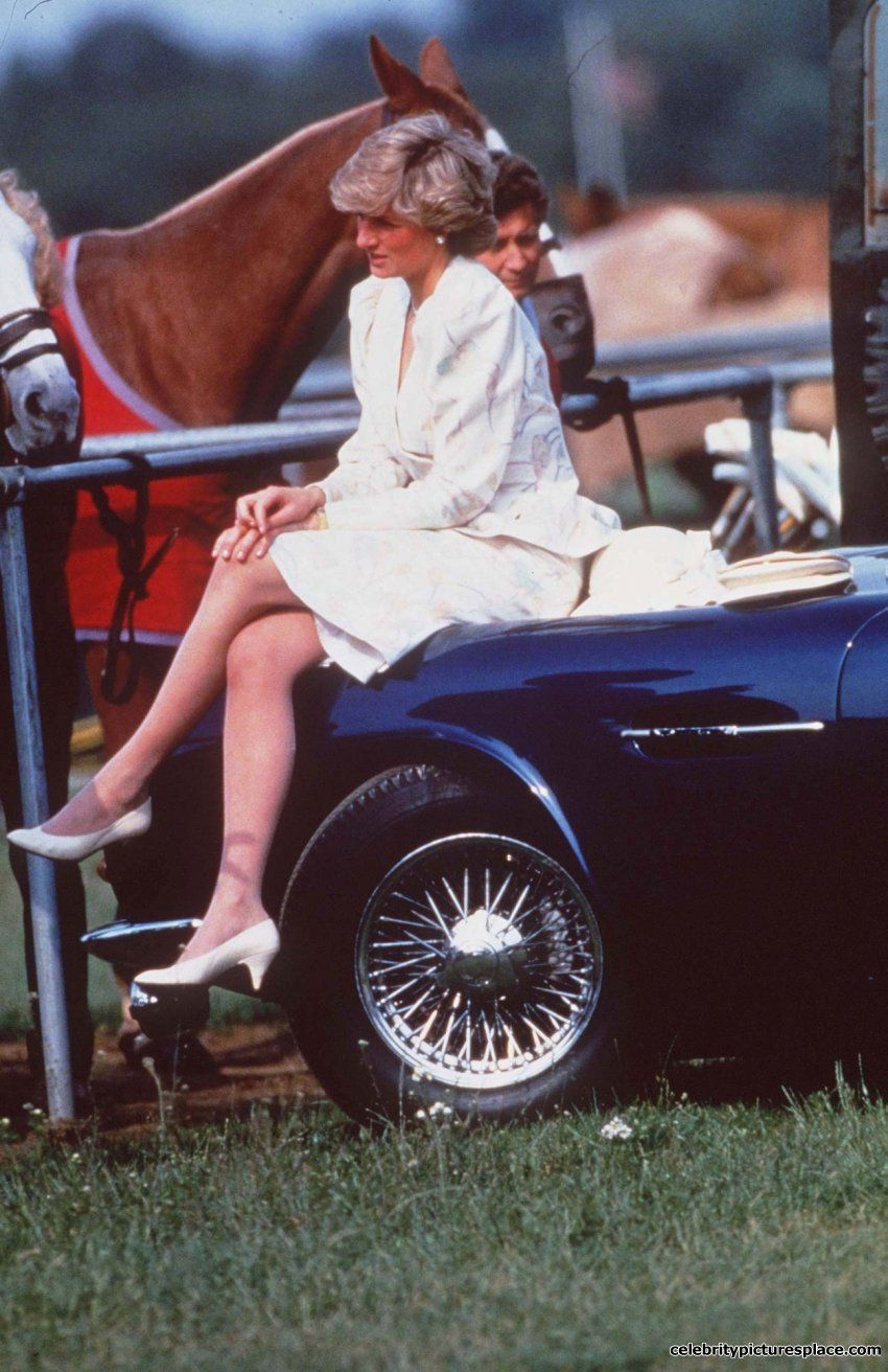 This Photo Princess Diana Sitting On Charles Aston Martin