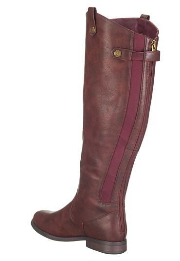 e25e81a9ca23 wendy wide calf boot with back zipper and gore in burgundy - maurices.com