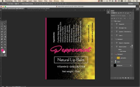 0 15oz Round & Oval Lip Balm Tube Label template , essential oil