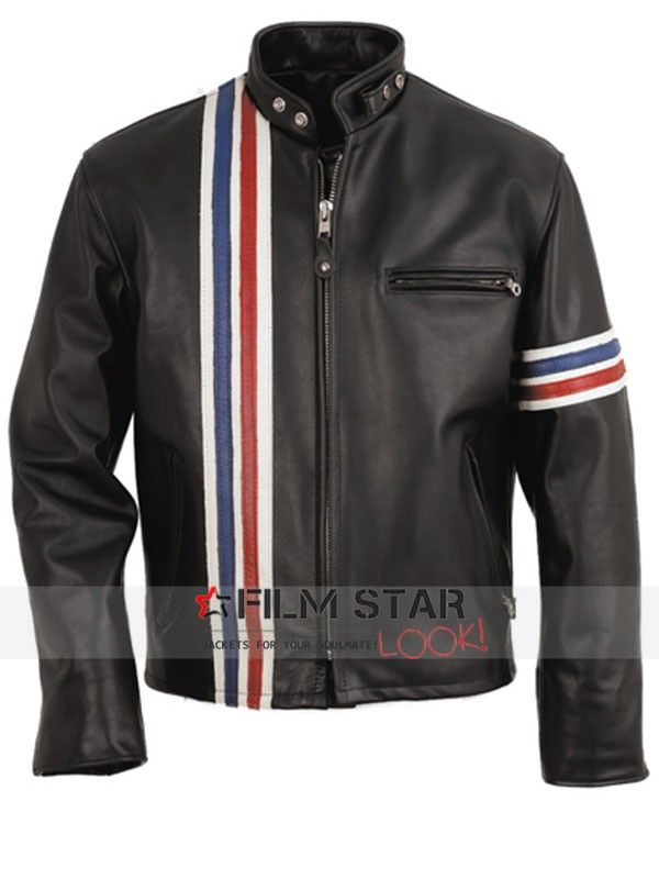 2015 Veterans Day occasion Filmstarlook presenting exceptional design legendary Peter Fonda American flag leather Jacket, Easy Rider movie new outfit now obtainable with International free shipping.