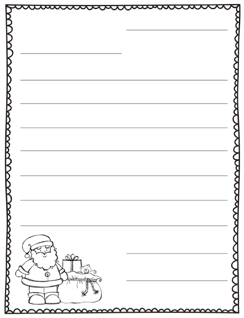 Letter To Santa Blank Template  Teaching    School