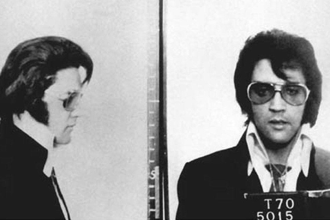 Elvis Presley Police Mugshot 1970 Framed Print Picture Poster Rock Roll King