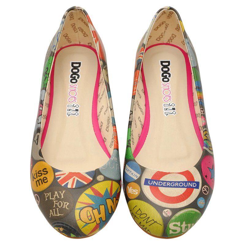 DOGO Ballerina - Badge mania #dogogermany #printedshoes #dogoshoes