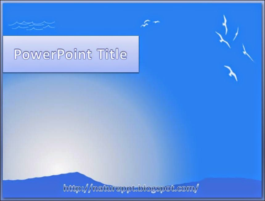 a natural scenery with blue skies and blue ocean waves powerpoint