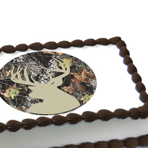 Mossy Oak Deer Edible Image Cake Decoration   Camo party ...