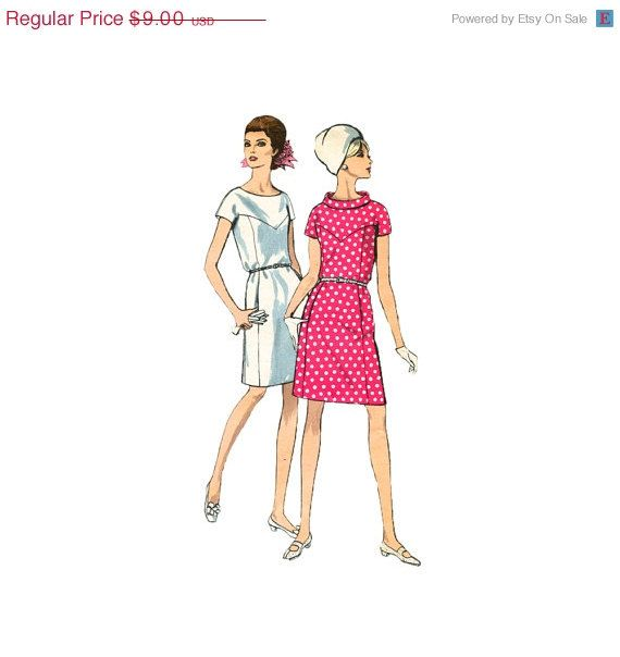 20% DE DESCUENTO 1960 Patrón Vestido Vogue 7280 V con forma de horq ...