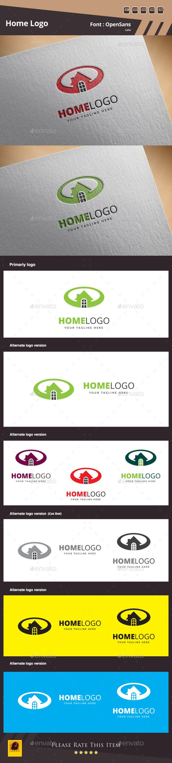 Home Logo Template by maraz2013 Home Logo Template Suitable for: 鈥?20Design Studios 鈥?20Photography 鈥?20Web Pages 鈥?20Software and Apps 鈥?20Video Games and Clans 鈥?20Creati