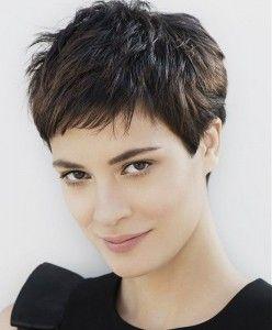 Wonderlijk Trendy korte kapsels voor een donkere haarkleur (met afbeeldingen BP-57