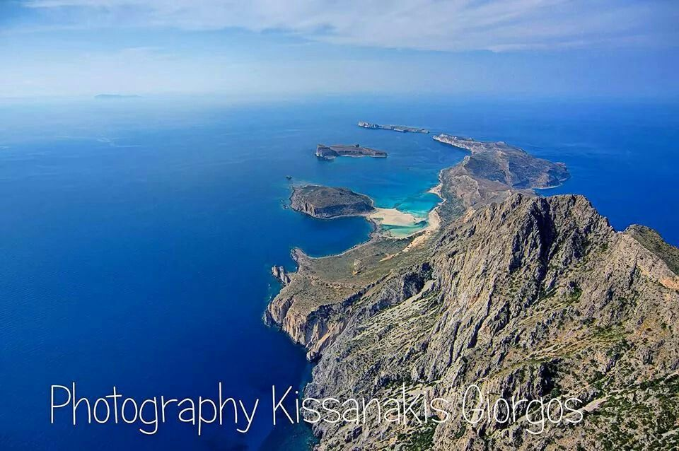 Aerial view of gramvousa,  crete
