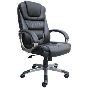 Boss Black Leatherplus Executive Chair Feel Like The Boss In This Ultra Fancy Office Chair With Images Leather Office Chair