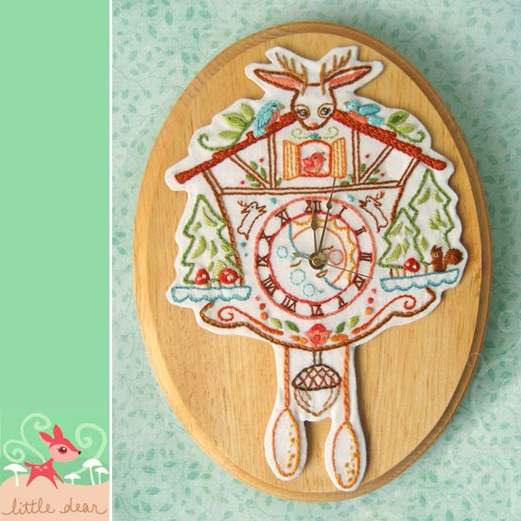 Cuckoo Clock Embroidery Pattern