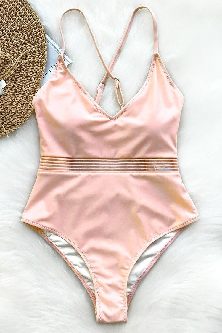da8a79c7daf9b  Valentines  AdoreWe  CupShe -  CUPSHE Cupshe Endearing Smile Solid One- piece Swimsuit - AdoreWe.com