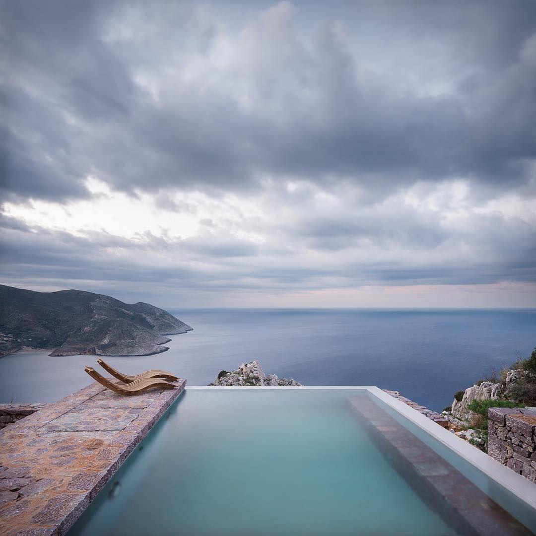 Tainaron Blue #Retreat By Kostas Zouvelos + Kassiani Theodorakakou Located  In Sminos, #Greece