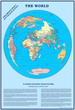 Round World Map Maps Pinterest Mecca - Round world map image