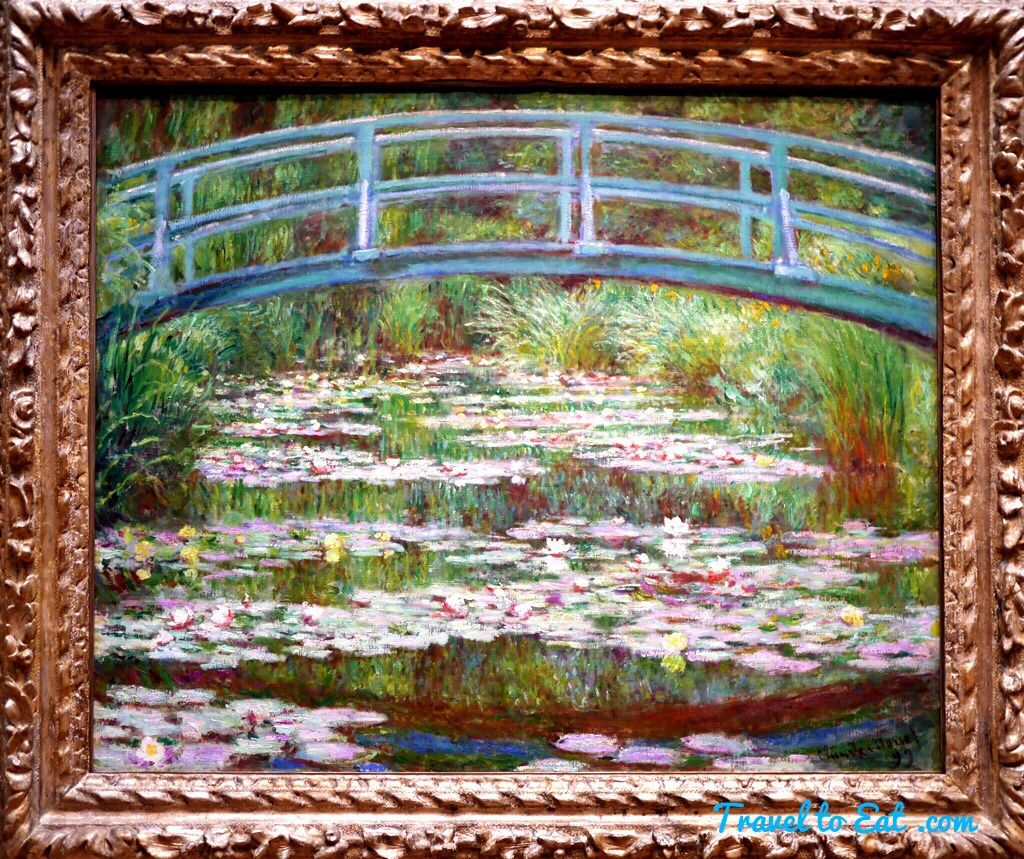 The Japanese Footbridge by Claude Monet 1899. National Gallery of Art, Washington DC