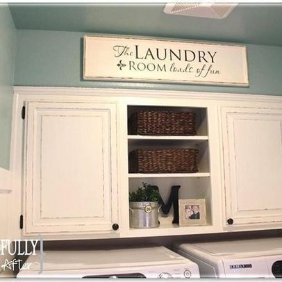 Cabinets Over Washer And Dryer Yes Laundry Room Makeover