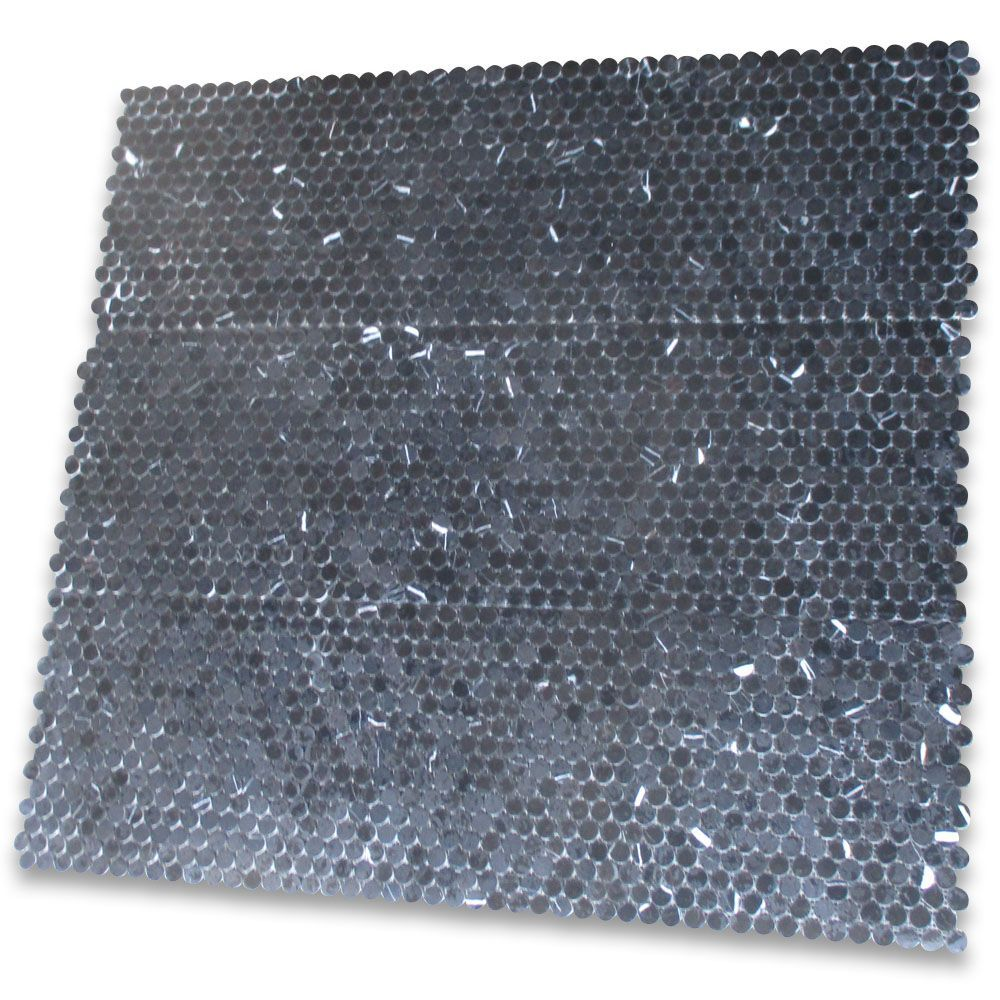Nero Marquina Black Marble 3 4 Inch Penny Round Mosaic Tile Polished Penny Round Mosaic Mosaic Tiles Penny Round