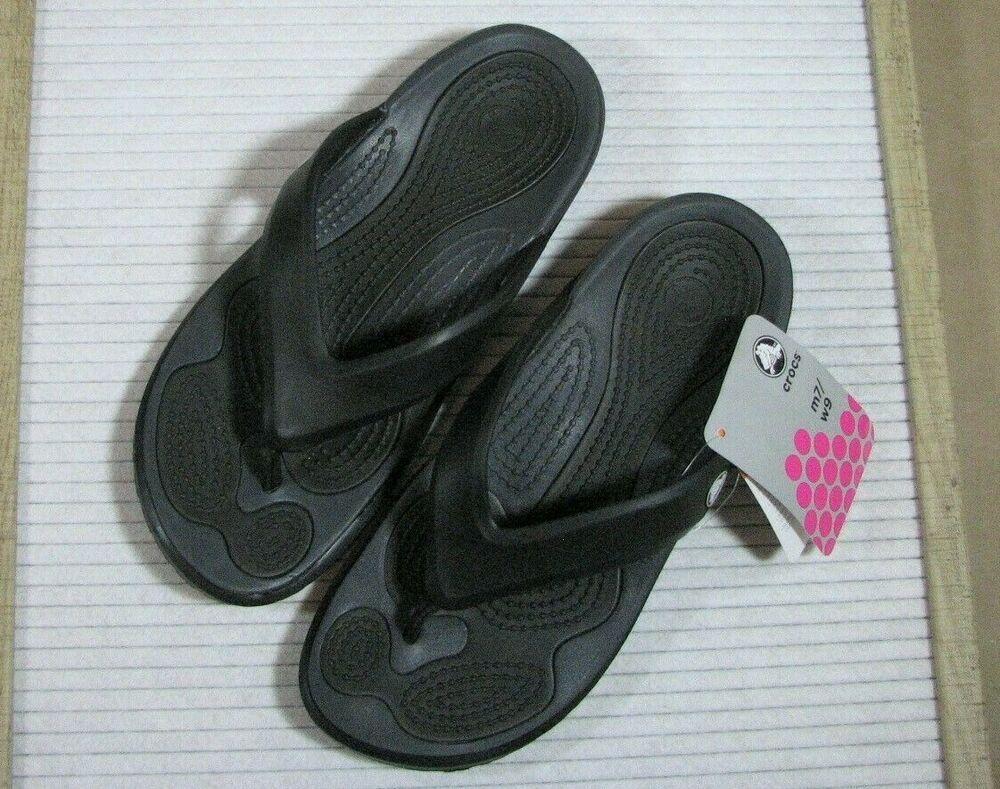 f865f21ca Crocs modi flip black graphite men 7 women 9 NEW NWT sandals thongs  Crocs   FlipFlops
