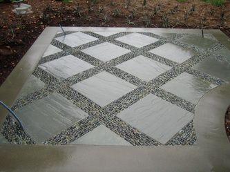 Pebble Mosaic Between Pavers Piso Para Patio Piso De 400 x 300