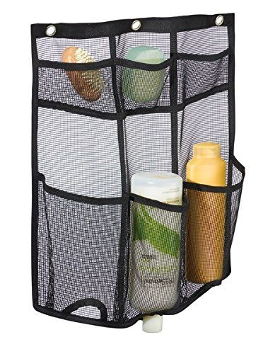 Mdesign Bathroom Over Door Mesh Shower Caddy For Shampoo Conditioner Soap Black Check Out The Image By Visiting Th Shower Caddy Bathroom Accessories Mdesign