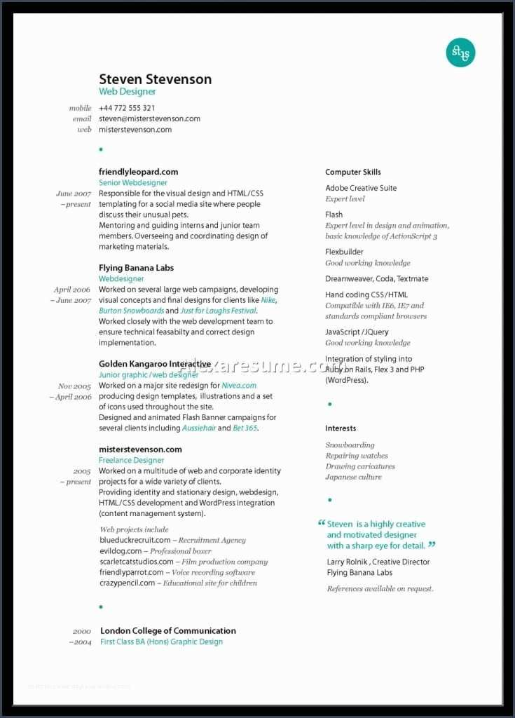 Referencegraphic Designer Resume Sample Best Examples For