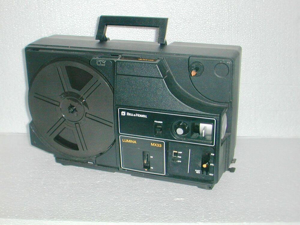 Vintage Bell Howell Lumina Mx33 Daul 8mm Super 8mm Movie