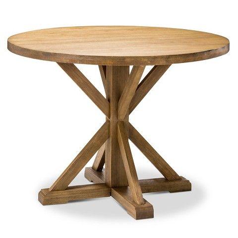 Farmhouse Round Dining Table Wood/Acorn | Kitchen + Dining | Pinterest