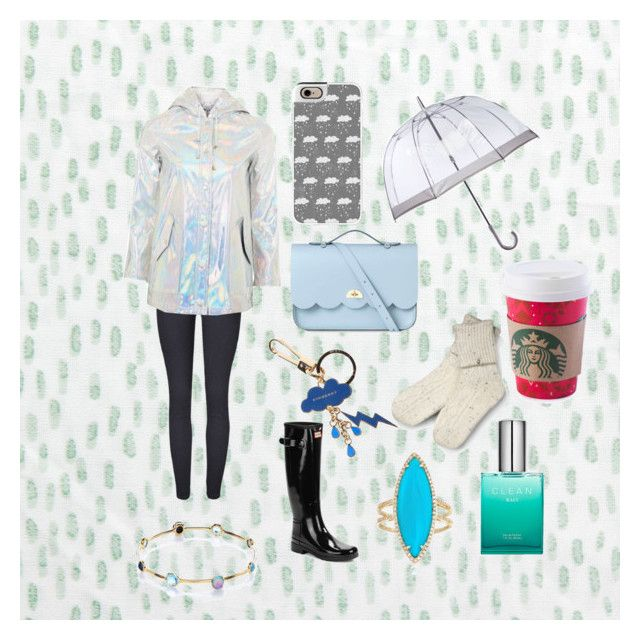 """Rain Day ☁💧"" by wipsy ❤ liked on Polyvore featuring Bluebellgray, Norse Projects, Hunter, Fulton, Casetify, CLEAN, Topshop, Ippolita, Ross-Simons and The Cambridge Satchel Company"