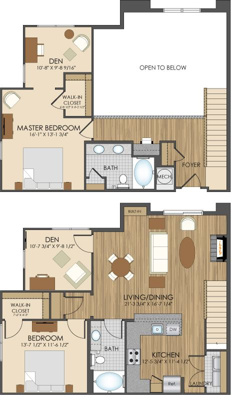 Floor Plans Of Hidden Creek Apartments In Gaithersburg Md