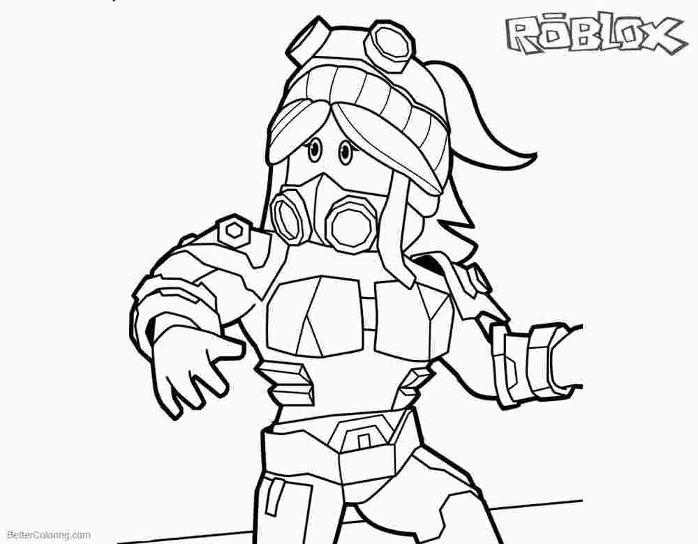Printable Roblox Coloring Pages Roblox Girl Coloring Pages Free