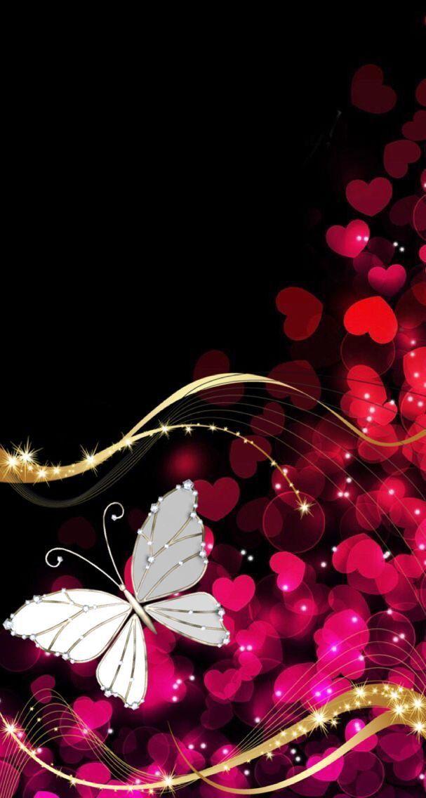 Cute Pink Cell Phone Wallpaper Bingkai Butterfly Wallpaper Heart Wallpaper Cellphone