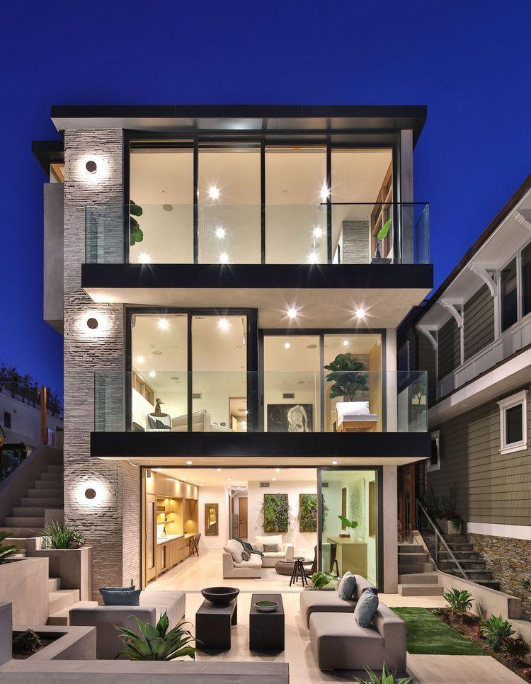 60 Choices Beautiful Modern Home Exterior Design Ideas En 2020 Maisons Modernes De Luxe Maison Moderne Architecture De Maison
