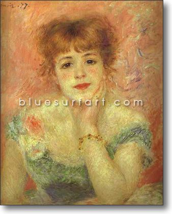 Portrait of the Actress Jeanne Samary - £124.99 : Canvas Art, Oil Painting Reproduction, Art Commission, Pop Art, Canvas Painting
