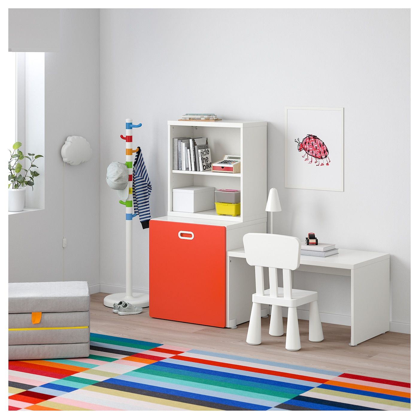 Stuva Fritids Table With Toy Storage White Red Ikea In 2020