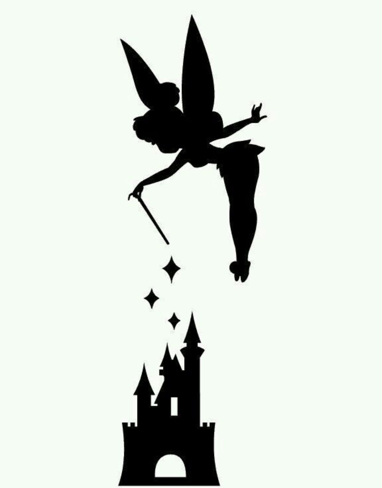 Tinker Bell And Disneys Castle Pumpkin Stencil Its The Great