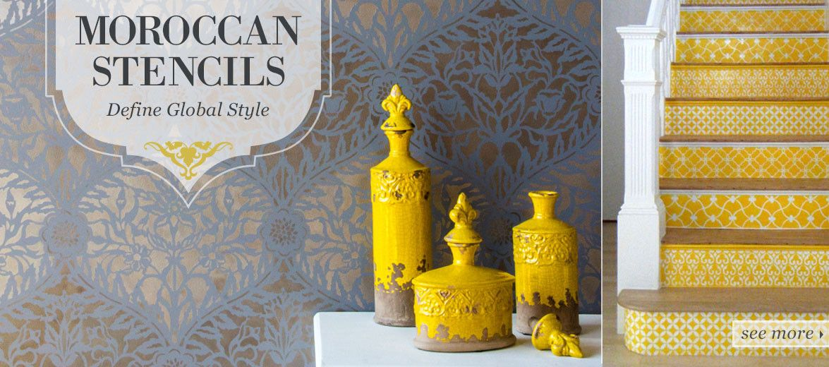 Moroccan Stencil Wall Decor   Home Sweet Home   Pinterest ...