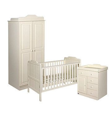 Tutti Bambini Alexia 3-Piece Room Set - Vanilla - nursery furniture ...