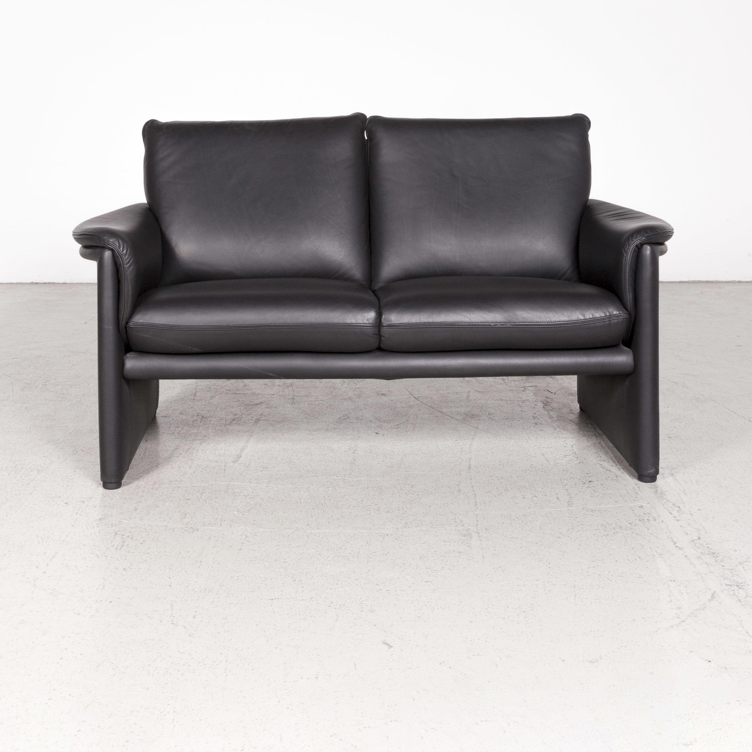 Cor Zento Designer Leather Sofa Black Genuine Leather Two ...