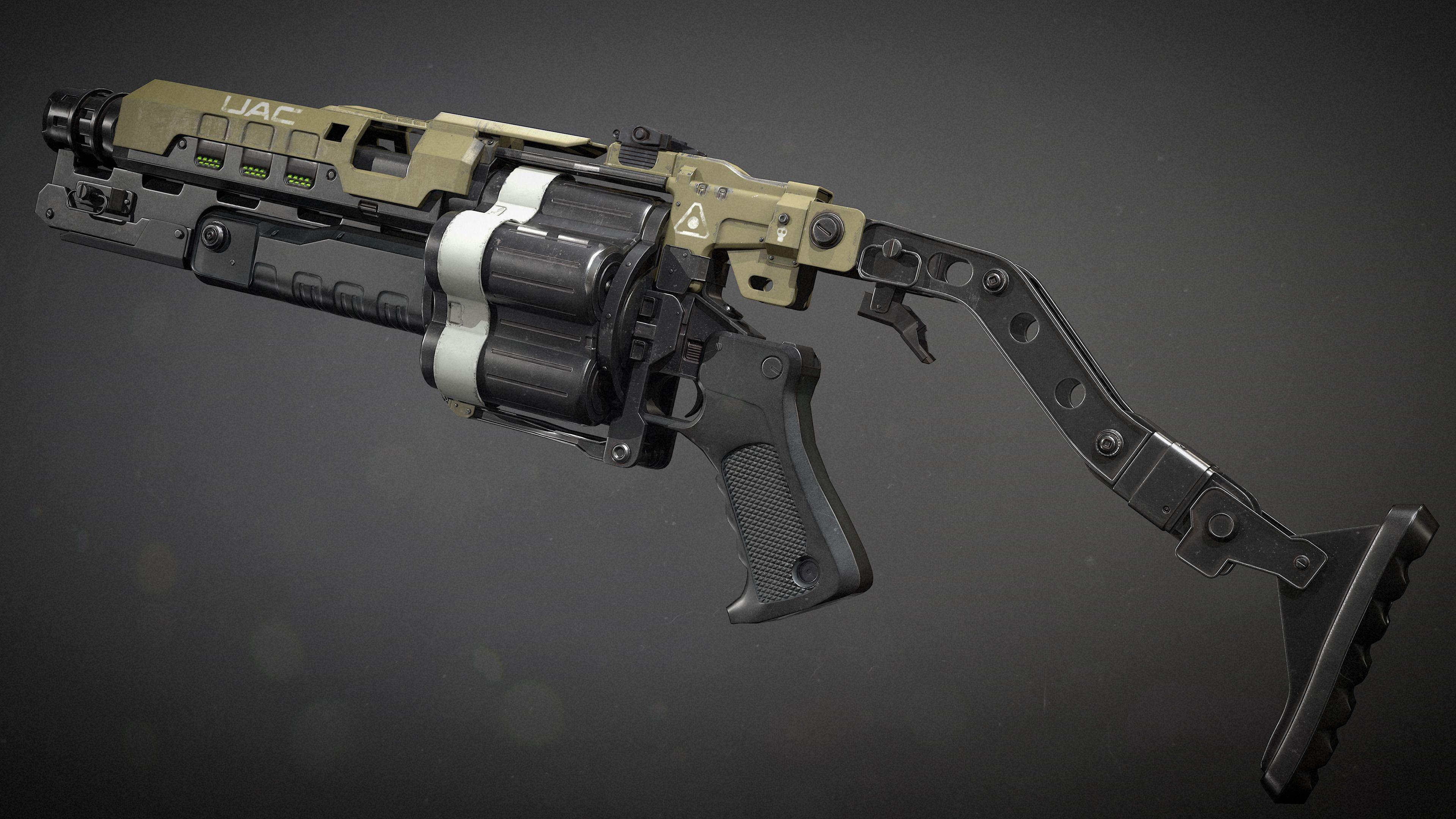 Doom 4 | Grenade Launcher | Fant Art — polycount | Guns | Guns
