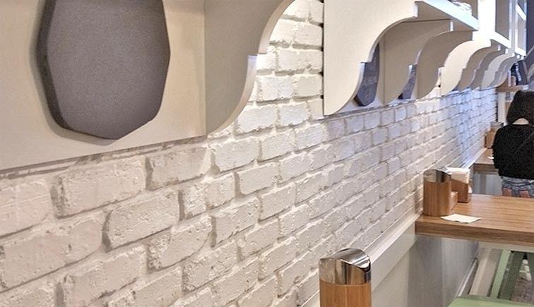 White Brick Veneer Stone Veneer Wall Brick Veneer Faux Stone Walls