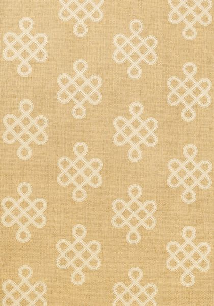 ENDLESS KNOT,                                      Cream,                                      T3628,                                      Collection Grasscloth Resource  from Thibaut