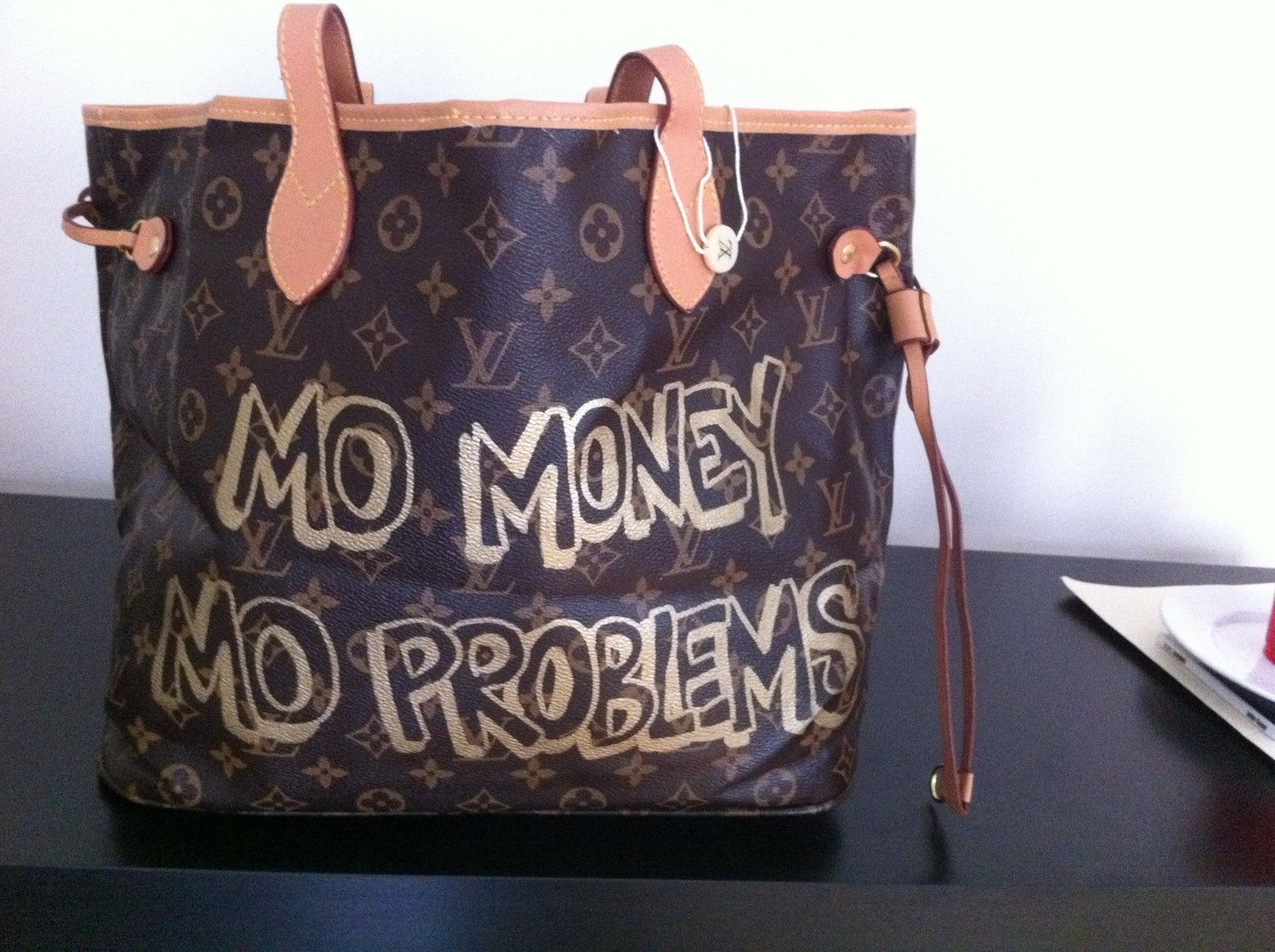 Mo Money Mo Problems Spray Painted Louis by atribecalledmel, $140.00