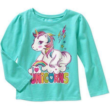 8d024d807e05 Garanimals Baby Toddler Girls' Long Sleeve Graphic Tee, Toddler Girl's,  Size: 3 Years, Green