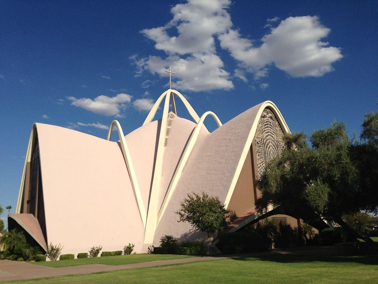 1961 St. Maria Goretti Catholic Church | Architect: Dr. Wendell Rossman | North Scottsdale, AZ | Photo: Christien Garcia