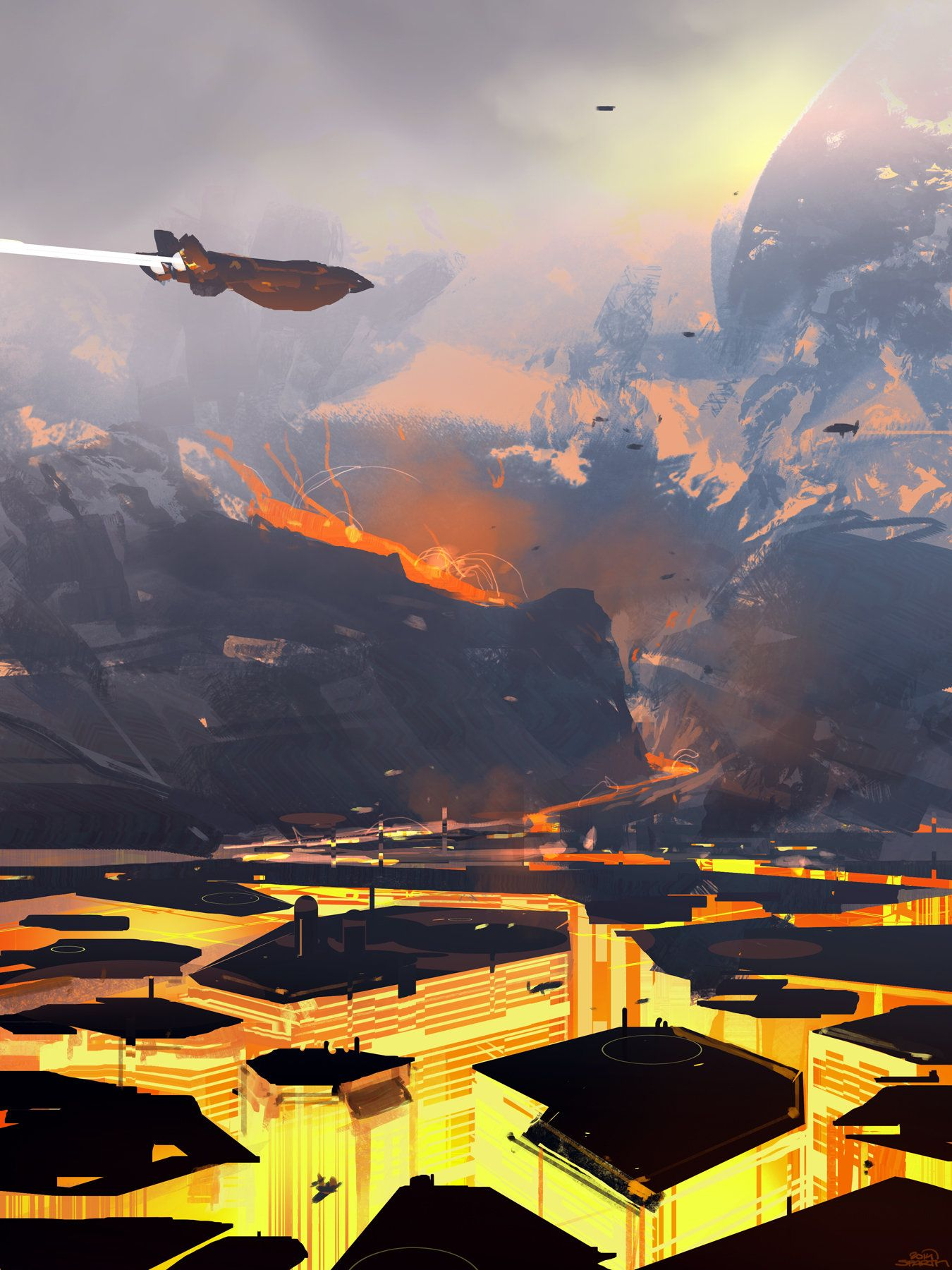 ArtStation - Volcano City, sparth .