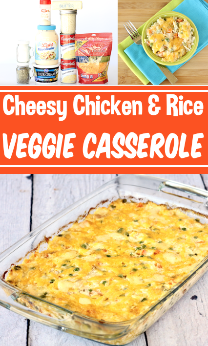Chicken Vegetable Casserole With Rice Easy Cheesy Dinner In 2020 Yummy Casserole Recipes Healthy Snacks Recipes Casserole Recipes