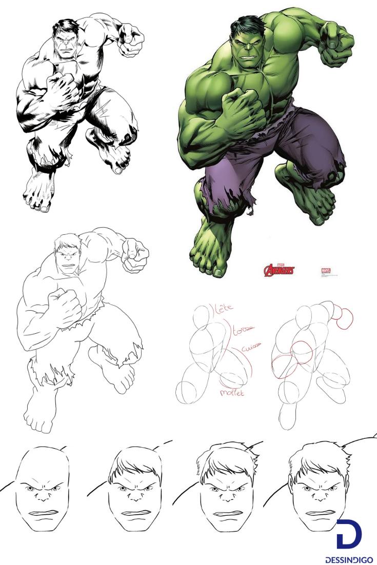 Realiser Un Dessin De Hulk Dessin Hulk Dessins Faciles Dessin