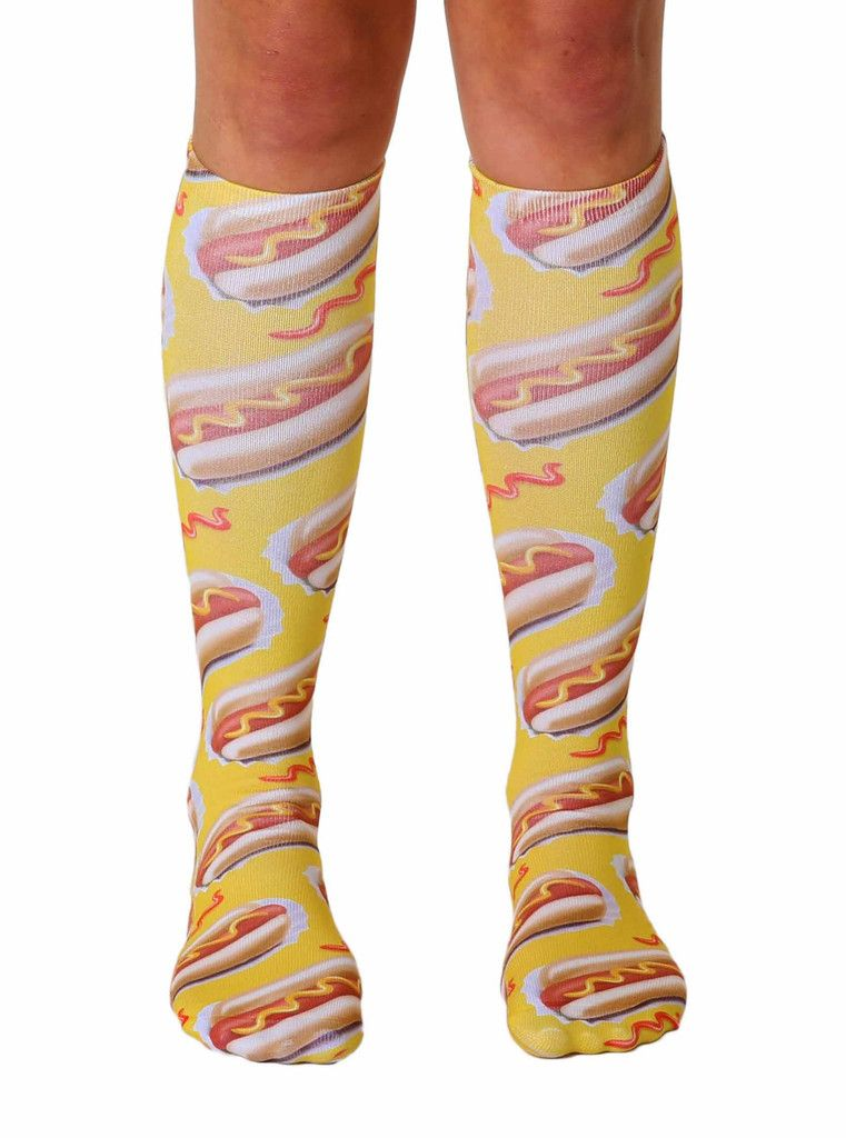 38ff3fa99 Hot Dog Knee High Socks