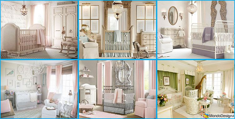 Cameretta Stile Shabby Chic : 20 camerette per neonati in stile shabby chic idee arredamento