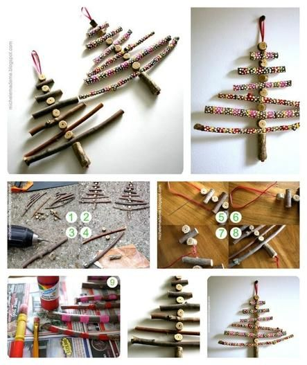 16 Wintry Christmas Decorations Made From Twigs Diy Christmas Decorations Easy Twig Crafts Christmas Decorations